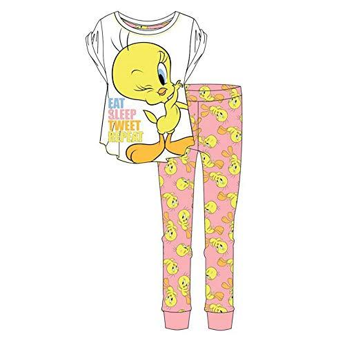 Fashion by Purdashian Damen Pyjama-Set aus Baumwolle mit Disney/Marvel-Motiv Gr. X-Large, Tweety Pie - Design 1