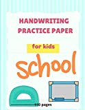 Cursive Practice Paper - 27: Blank Writing Sheets Notebook with Dotted Lines for Kids (Preschool, Kindergarten, Pre K, K-2 Students), 110 pages.