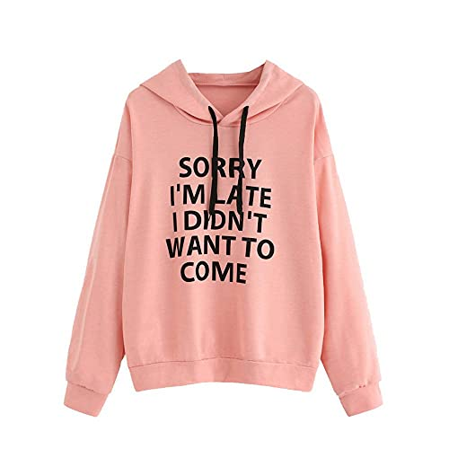 Womens Long Sleeve Workout Hooded Tops Gym Yoga Dry Fit Athlesuire Wear Shirt for Women with Thumbhole Pink