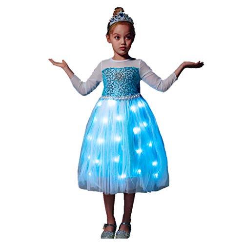 Product Image of the SHINYOU Girls Princess Dress Party Fancy Costume LED Light Up Christmas Bithday...