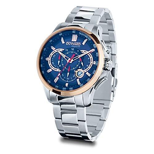 DUWARD Reloj para Hombre Analógico Cuarzo con Correa de Acero Inoxidable D95522.05