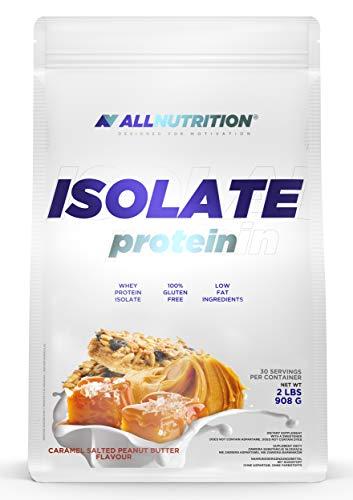 ALLNUTRITION Isolate Protein 908g 1er pack Eiweißpulver Molkenproteinpulver Muskelaufbau mit Verzweigte Aminosäuren BCAA(Salted Caramel Peanut Butter)
