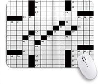 マウスパッド 3Dプリントされたのスタイルのクロスワードパズル ゲーミング オフィス おしゃれ がい りめゴム ゲーミングなど ノートブックコンピュータマウスマット