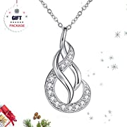 Silver Necklace for Women, Fine Jewelry ZHULERY Unlimited Love 925 Sterling Silver, 5A Cubic Zirconia, Best Gift for Her with Exquisite Package