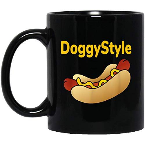Funny Hot Dog Doggystyle Comical 11 oz. Black Mug