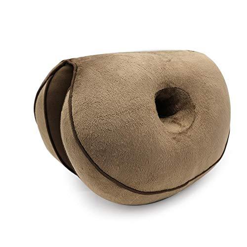 Meetgre Dual Comfort Cushion Lift Hips Up Cojín de Asiento multifunción, cojín de Asiento de Espuma viscoelástica ortopédica para Alivio de hemorroides ciáticas - 45 x 31 x 10 cm