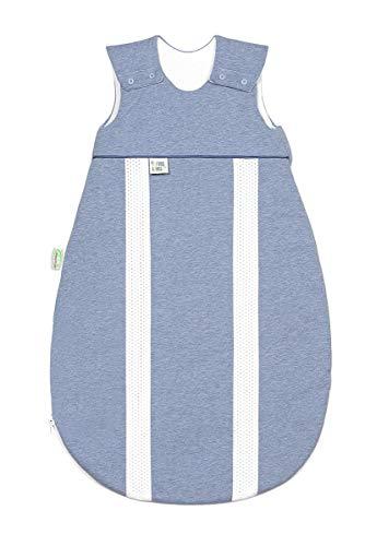 Odenwälder Jersey-Schlafsack primaklima melange bleu, Größe in cm:90 cm