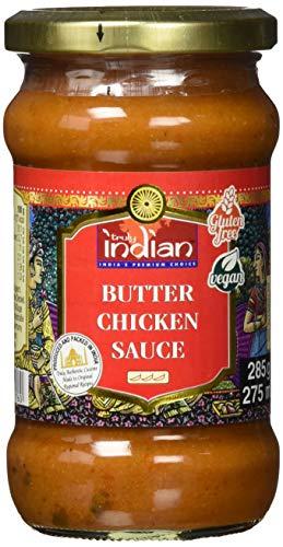 TRULY INDIAN Butter Chicken Sauce – Mild-würzige Fertigsauce für schnelle Gerichte mit natürlichen Zutaten – Authentisch indisch kochen – Vegan & glutenfrei – 6 x 285 g