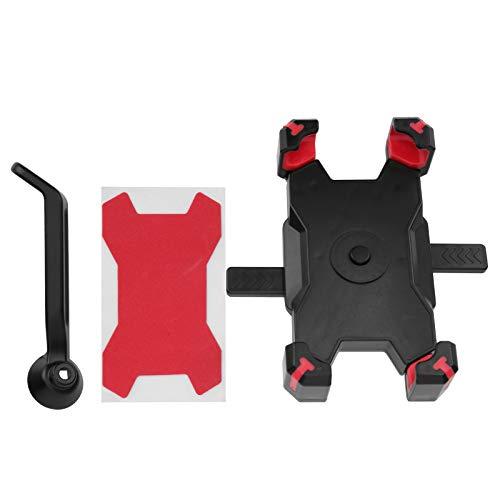 Fybida Soporte de teléfono móvil de Ciclismo Ajustable para Bicicleta estática para Bicicleta de Carretera para Bicicletas Plegables para Bicicleta de montaña(Red)
