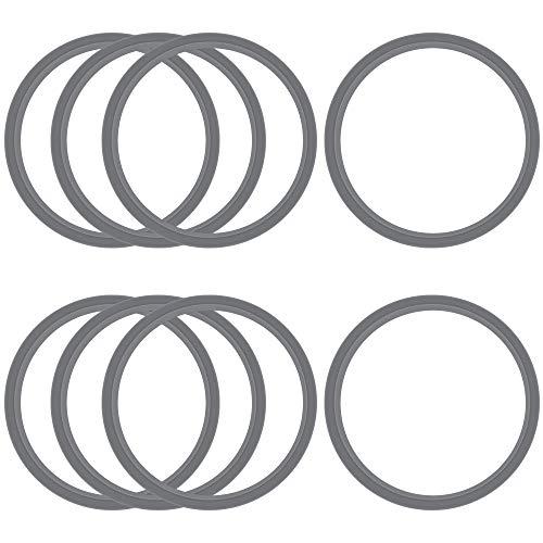 SNAGAROG 8 piezas de repuesto, junta de goma anillo de junta en forma de O, tapa resellable y almohadillas de engranajes y amortiguadores serie 900 W, kit de accesorios de repuesto, plateado