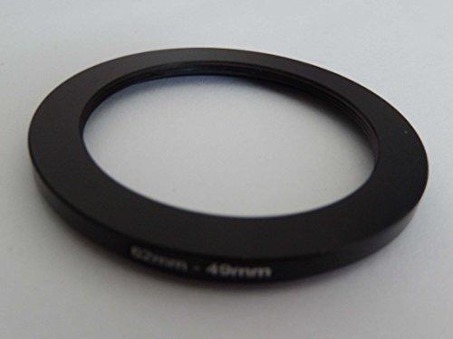 vhbw Anillo Adaptador Step Down, Filtro Adaptador 62mm-49mm Negro para cámaras Sony DT 18-135 mm D3,5-5,6 Sam (SAL-18135)