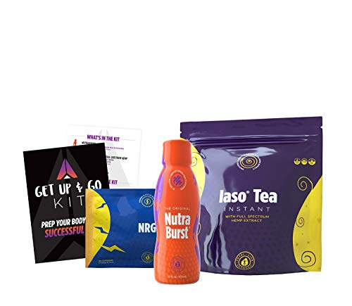TLC Total Life Changes Get Up and Go Kit - NutraBurst Liquid Multivitamin - 32 Servings | (1) Month Supply of NRG Dietary Supplement | (1) Month Supply of Lemon Flavor Iaso Instant Tea (25 Sachets)