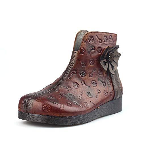 Dames enkellaarzen waterdichte laarzen anti-slip rubberen zool Womens casual schoenen lederen damesschoenen laarzen 37 BRON