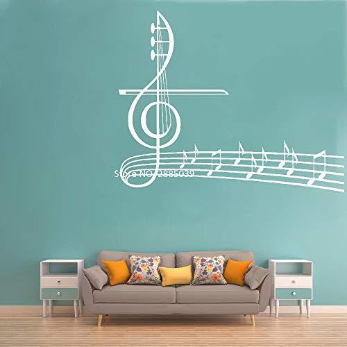 Notas musicales papel pintado calcomanías de vinilo clave de sol pegatinas de...