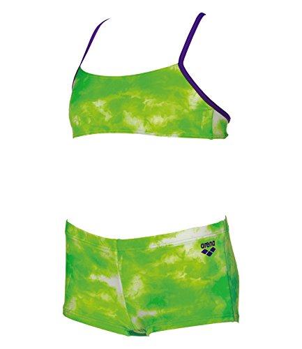arena Mädchen Kinder Bikini Clouds, Kinder Größen:128, Farbe:Lime