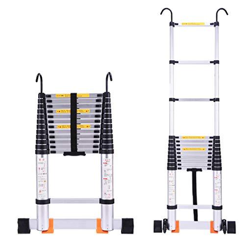 Step Stool Wooden- Escalera plegable portátil antideslizante de aleación de aluminio - Línea de telecomunicaciones Mantenimiento sobre la escalera recta de la pared welcome ( Tamaño : 4.6m )
