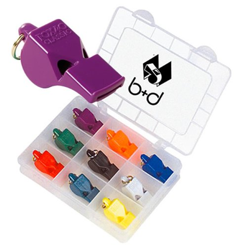 Fox-Boîte de Crayons de Couleur avec 9 x Sports Whistles Classique Fox 40