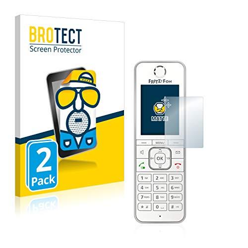 BROTECT 2X Entspiegelungs-Schutzfolie kompatibel mit AVM Fritz!Fon C6 Displayschutz-Folie Matt, Anti-Reflex, Anti-Fingerprint