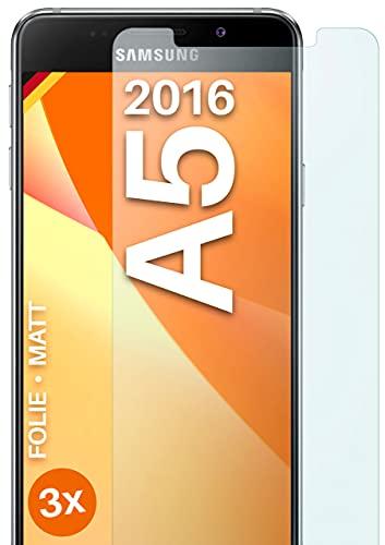 moex Protector de pantalla mate compatible con Samsung Galaxy A5 (2016) – Protector de pantalla antirreflectante – 3 piezas