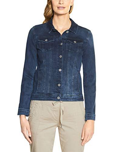 Cecil Damen TOS Color Denim Jacket Jeansjacke, Blau(mid blue used wash)XXL