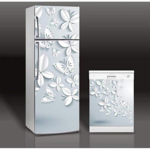 HYXLN 3D Schmetterling Bild Selbstklebende Geschirrspüler Kühlschrank Einfrieren Aufkleber Kid'S Art Kühlschranktür Abdeckung Tapete
