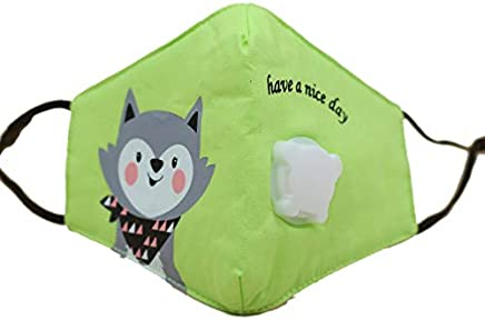 Clockeikic PM2.5 Children Cartoon Cotton Anti Dust Windproof Mouth Mask Face Masks