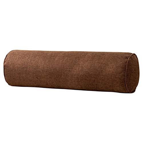 DASNTERED Almohada para el cuello - Almohada cervical redonda cilíndrica forma rollo tiro dolor silla coche para dormir sofá