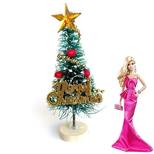 Rocita 6,5 cm Mini Weihnachtsbaum Miniatur Künstliche Christbaum Puppenhaus Garten Dekoration Puppenstube Weihnachten Ornamente