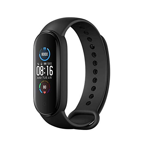 Xiaomi Mi Band 5 Smart Wristband Fitness Armband 1,1 Zoll Farbdisplay MIBAND Magnetische Ladung, 11 Sportmodi, Gesundheitsüberwachung, Bluetooth 5.0, Weltversion, Schwarz