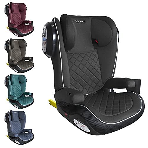XOMAX A23 + silla de coche para niños con ISOFIX + Grupo II/III (15-36 kg) + aprox. 3,5-12 años + ECE R44/04 tested + reposacabezas ajustable + soporte de botella