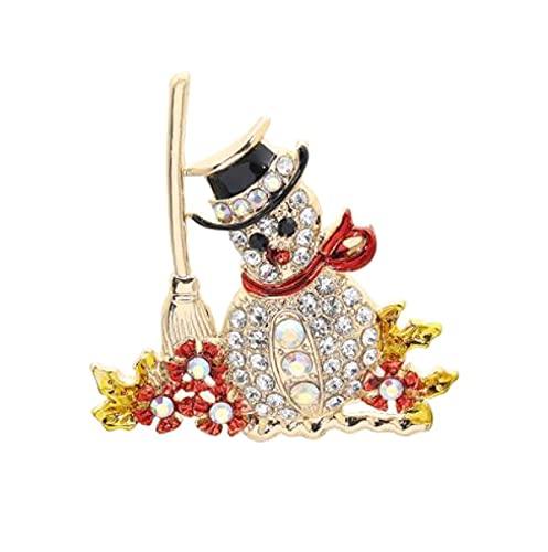 MENGHUA Broche de Navidad Creativo De Apple Sleigh Elk Bell Muñeco de Nieve Diamante Cowboy Insignia 05