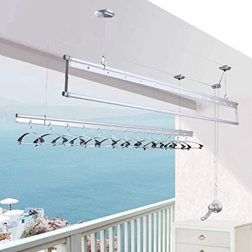 YJKDM Tendedero de elevación Manual, tendedero Plegable de Tres Barras para balcón/Colcha, de Aluminio/Longitud 120cm / 150cm