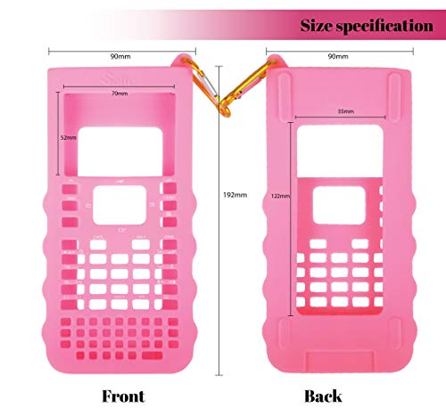 Sully Silicone Skin for Ti Nspire CX/CX CAS Handheld (Pink) w/Screen Protector - Silicon Cover Case for Ti-Nspire CX Hand held Graphing Calculator - Protective & Anti-Scretch Skins & Screen Covers Photo #4
