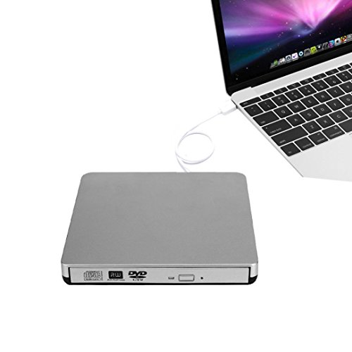 GBSELL External USB2.0 DVD CD-RW Drive Writer Burner DVD Player for MAC MacBook Air/Pro