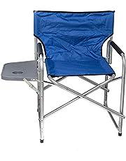 كرسى رحلات مع طاوله و جيب جانبى - ازرق