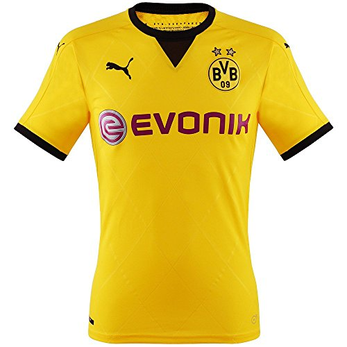 PUMA Herren Trikot BVB Ambassador Replica Shirt, Cyber Yellow-Black, XL