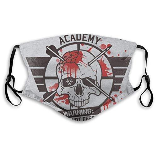 Smallgrid Face Decorations Zombie Hun-ter Academy - Pañuelo para la boca unisex