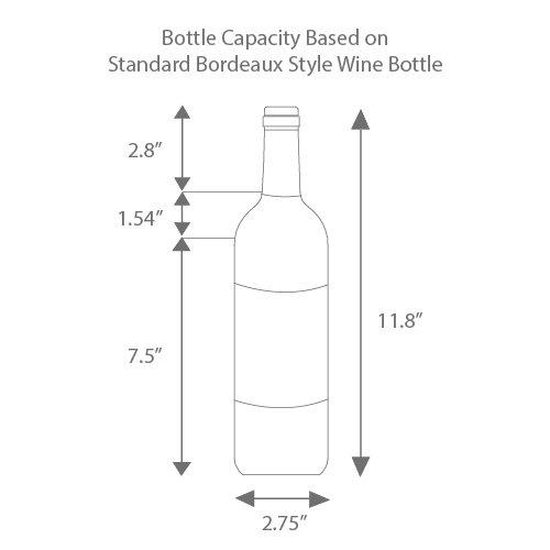 Edgestar 332 Bottle Built-In Side-by-Side Wine Cellar Stainless Steel - Black