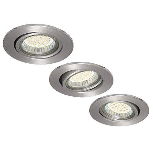 Ranex XQ0804 Lot de 3 Spots Encastrables LED Maureen Aluminium