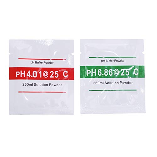 PH Meters - Correction Powder 2pcs Lot Buffer Measure Calibration Solution 4.01 6.86 Point Meter - Hydroponics Meters Soil Tank Brewing Fish Food Water