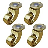 Brass Swivel Casters Furniture Casters Flat Casters with Screws Suitable for Sofas Pianos European Furniture Set of 4
