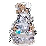 MomsStory – Tarta de pañales para niño | Elefante | Regalo de bebé para...