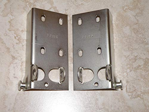 Affordable (Quality Garage Door Parts) Universal Garage Door Bottom Bracket - Cable Bracket - Pair -...