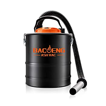 BACOENG 4 Gallon 6.6Amp Compact Ash Vacuum Cleaner w/Blowing Function Bagless Debris Ash Collector for Fireplaces Grills BBQ s Fire Pits and Stoves