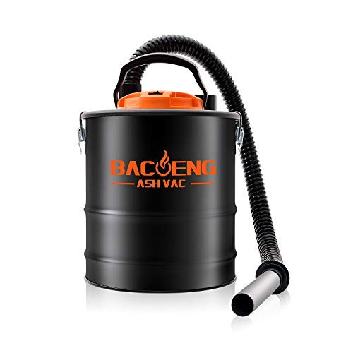 BACOENG 4 Gallon 6.6Amp Compact Ash Vacuum Cleaner w/Blowing Function, Bagless Debris Ash Collector for Fireplaces, Grills, BBQ