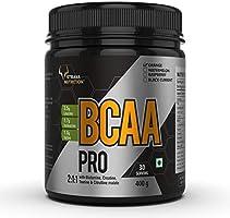 Strava Nutrition BCAA pro Amino Acid Powder with Glutamine, Creatine, Taurine & Citrulline Malate | 30 servings | Orange...