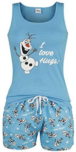 Die Eiskönigin Olaf - I Love Hugs Frauen Schlafanzug Multicolour XL