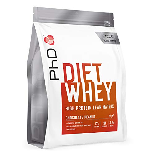 PhD Nutrition Diet Whey Protein Powder, Chocolate Peanut, 2 kg