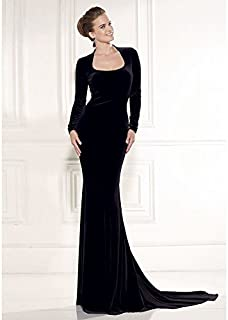 Elegant Backless And Long Sleeve Evening Dress For Ladies M Size Oyl-1