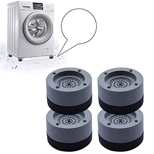 Almohadillas de Goma Antideslizantes 4 Piezas,Amortiguador de vibraciones universal, Almohadillas para pies antideslizantes de goma para anti vibración y Anti Walk